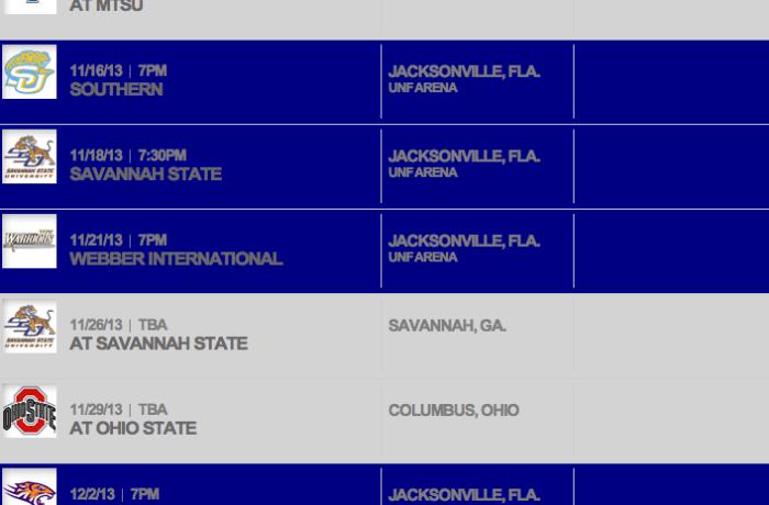 UNF releases Men's Basketball schedule – UF, Mich. State, Ohio State headline tough non-conference slate