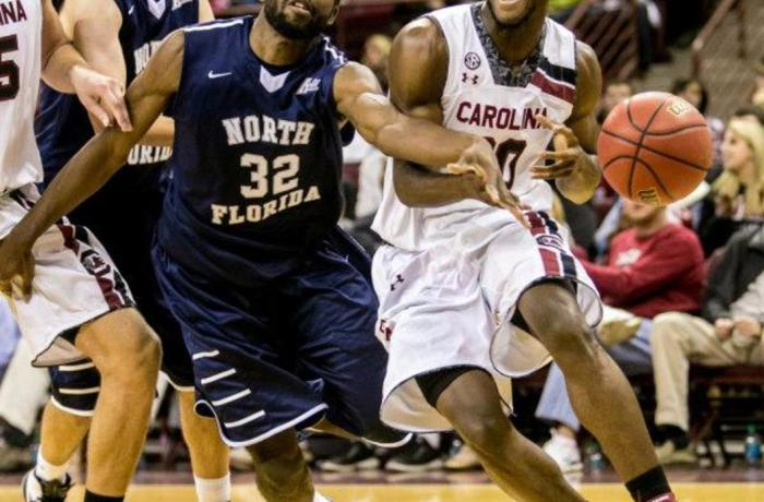 UNF men's basketball loses to the South Carolina Gamecocks in season opener