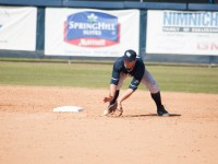 The Ospreys turned a double play in the ninth inning en-route to their 10-7 victory.  Photo credit: Morgan Purvis