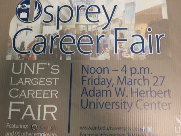 The Osprey Career Fair will be held March 27 in the University Center. Photo by Christian Ayers