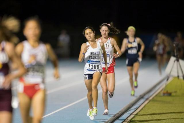 With a time of 35:30.61, it is the third fastest time of Meyer's career.  Photo by Morgan Purvis