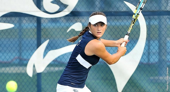 2.Osprey women's tennis junior Michelle Valdez's run in the USTA Collegiate Clay Court Invite ended in the quarterfinals.  Photo courtesy of UNF Athletics