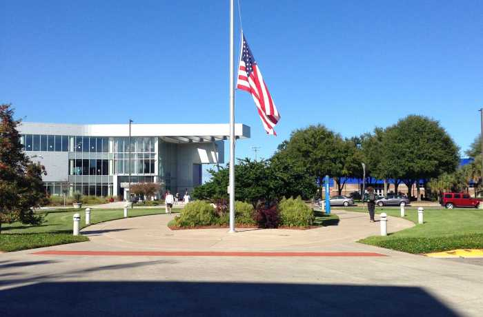 UNF honors Pearl Harbor, lowers US flags to half mast.