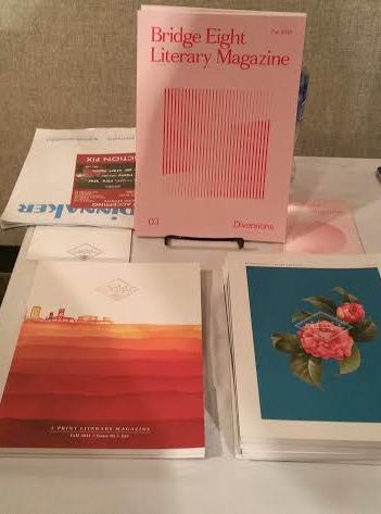 Bridge Eight Literary Magazine Issues 1-3 (Photo by Bernadyn Nettles)