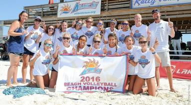 UNF Beach Volleyball Team at the 2016 Championships