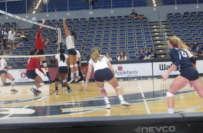 Volleyball splits senior weekend