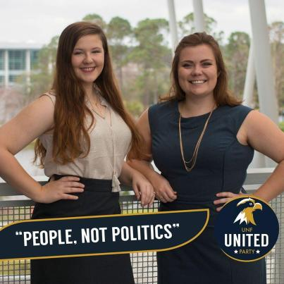 Bryant, left, and Braughton are the United Party candidates. Photo courtesy the United Party Facebook