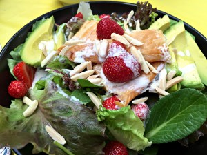 Smoked Trout and Strawberry Salad with Sweet Cream Dressing