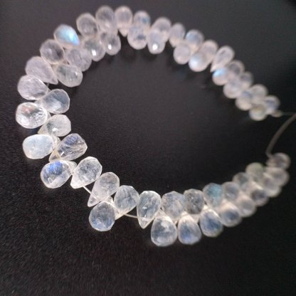 Quality Rainbow Moonstone Briolettes