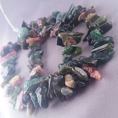 Rough Tourmaline Nugget Beads