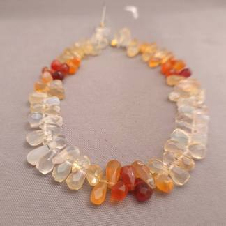 Quality Mexican Fire Opal Briolettes