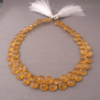Yellow Tourmaline Briolette Beads