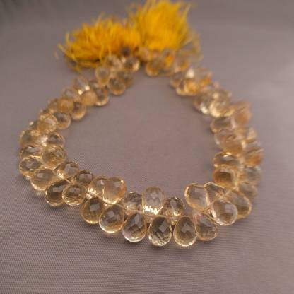Citrine Briolette Beads