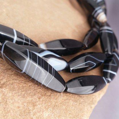 Agate Tube Beads