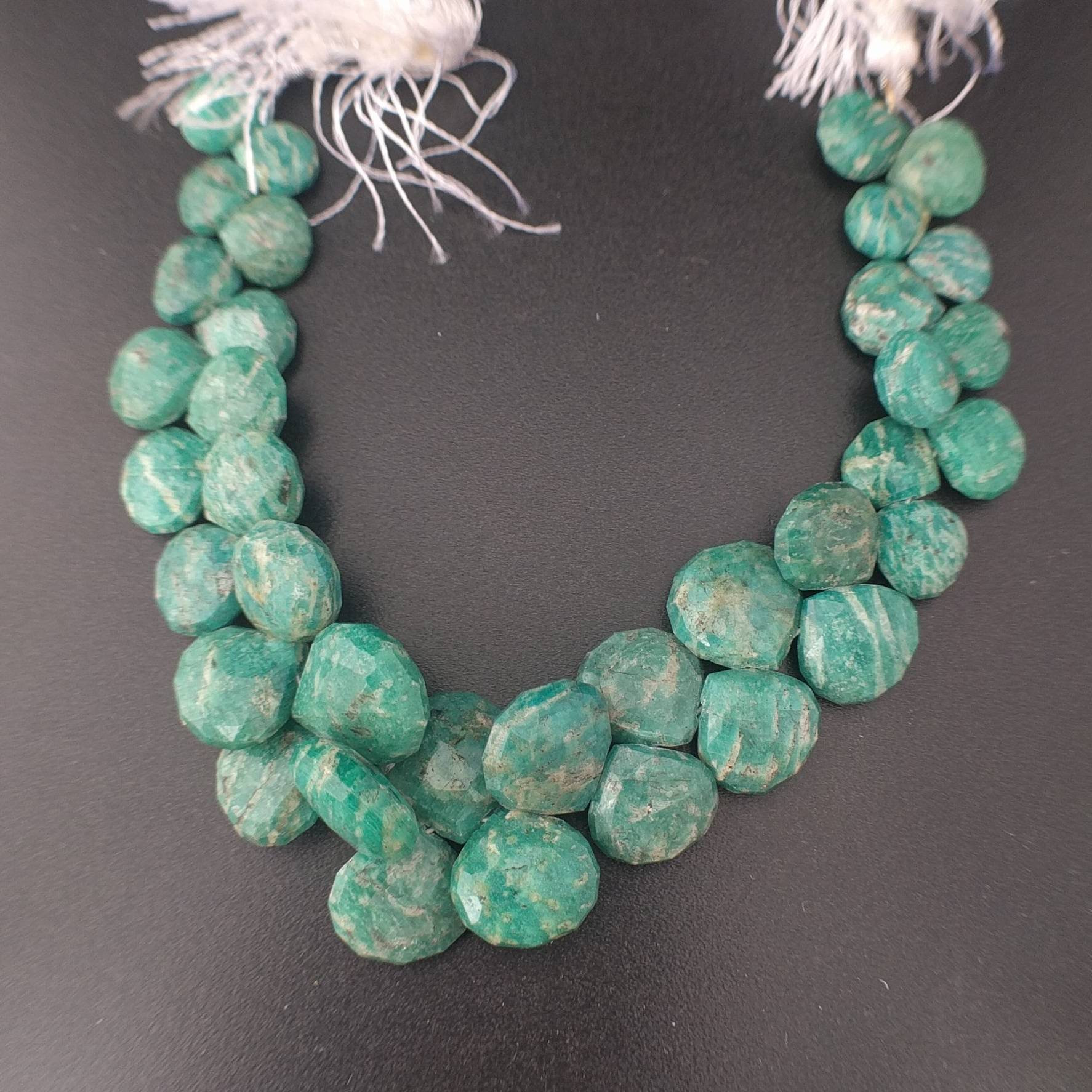 Natural AMAZONITE Briolette Gemstone Beads 8X12 MM pentagon Shape 10 pecs GU-804