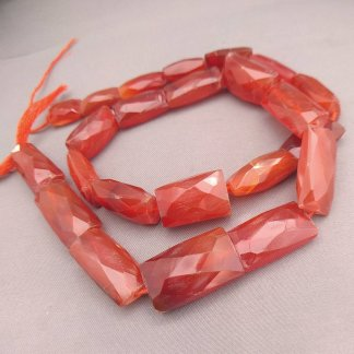 Faceted Carnelian Beads