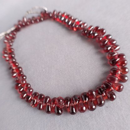 Garnet Briolette Beads