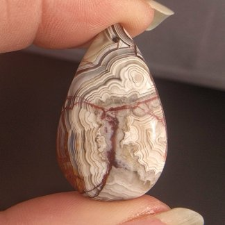 Lace Agate Pendant Bead
