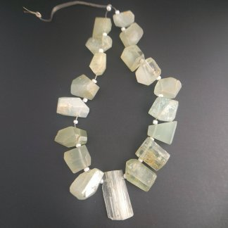 Moss Aquamarine Nugget Beads