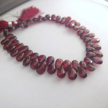Garnet Briolettes Beads