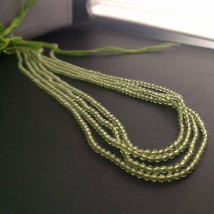 Peridot Rondell Beads