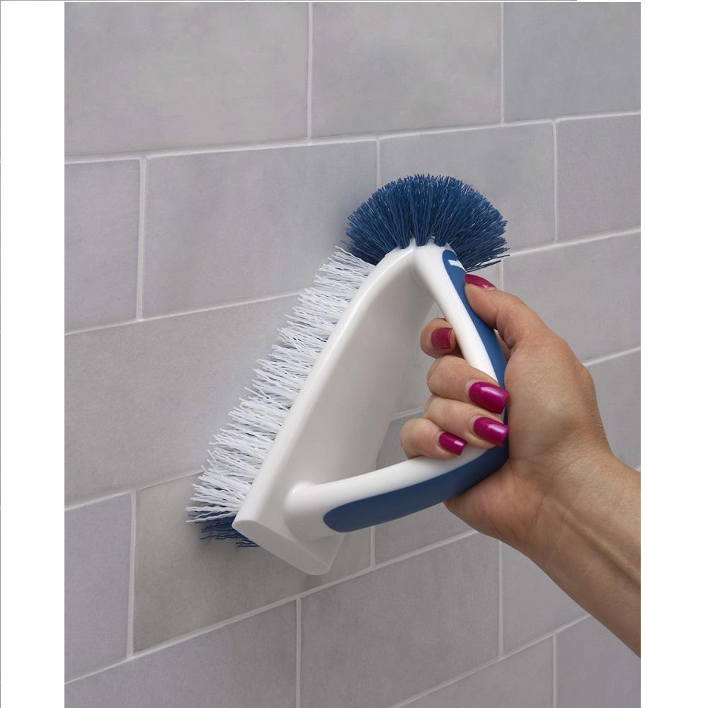 2 in 1 bath tile brush bathroom