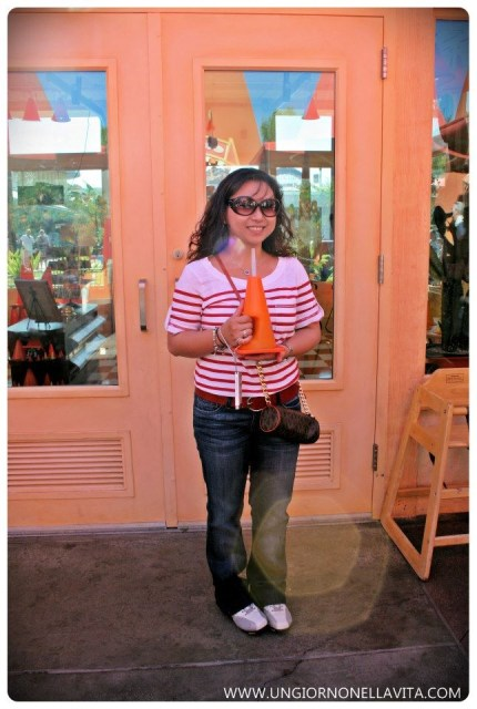 Happy me with my souvenir sippy cup! :D
