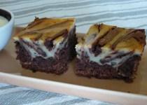 Brownie cheese-cake