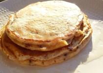 Pancakes petits suisses & chocolat