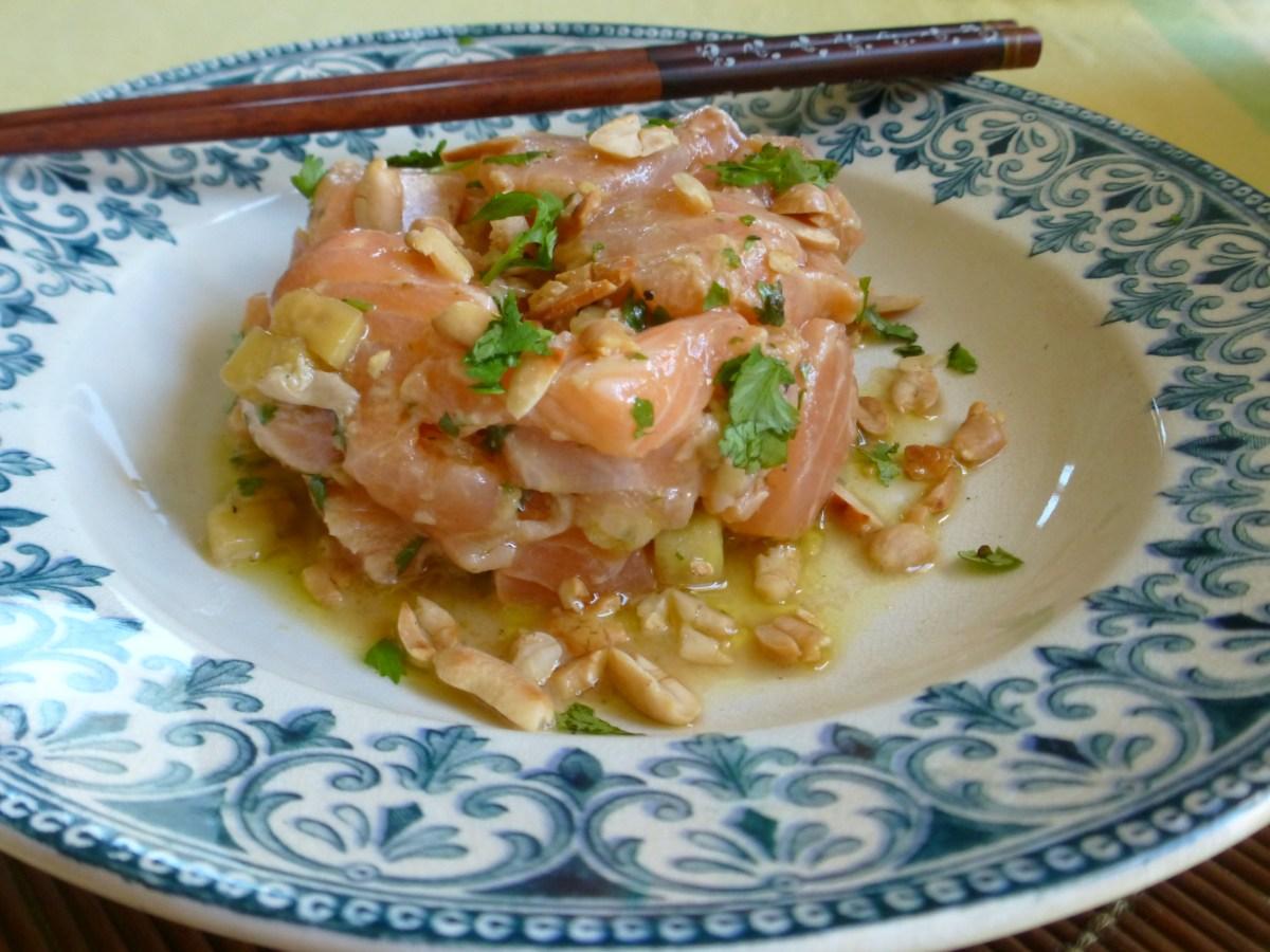 Tartare de saumon à la thaï