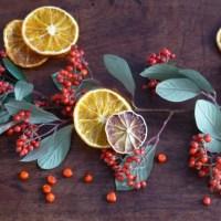 Oranges séchées pour un centre de table nature {DIY NOEL}