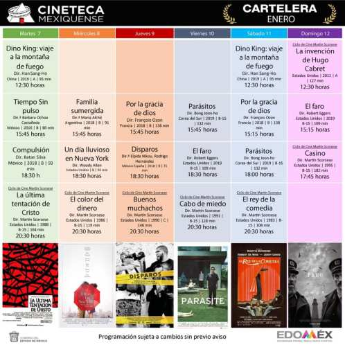 Cartelera Cineteca Mexiquense