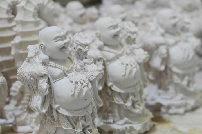 Figuras de resina en San Andrés Cuexcontitlán, Toluca