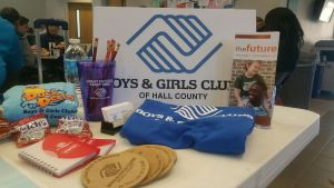 Boys & Girls Clubs of Hall County information table (Photo by Emily Elmore)