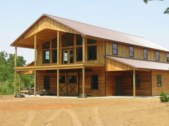 Building a pole barn homes kits cost floor plans designs for Steel barn home kits