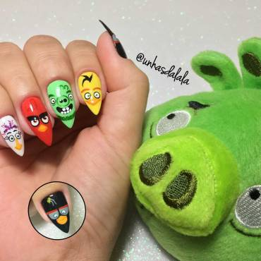 Unhas Decoradas Angry Birds