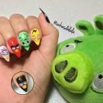 Unhas Decoradas Angry Birds