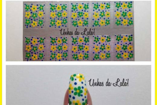 Unhas Decoradas flores brasil