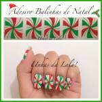 Unhas Decoradas Balinha de Natal
