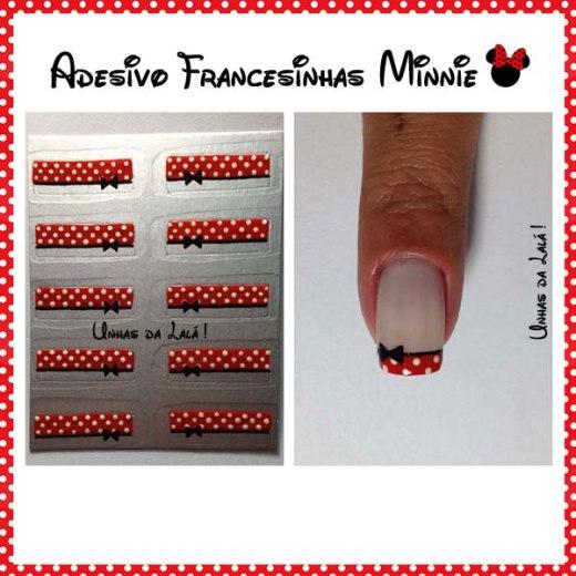 Unhas Decoradas Francesinhas Minnie