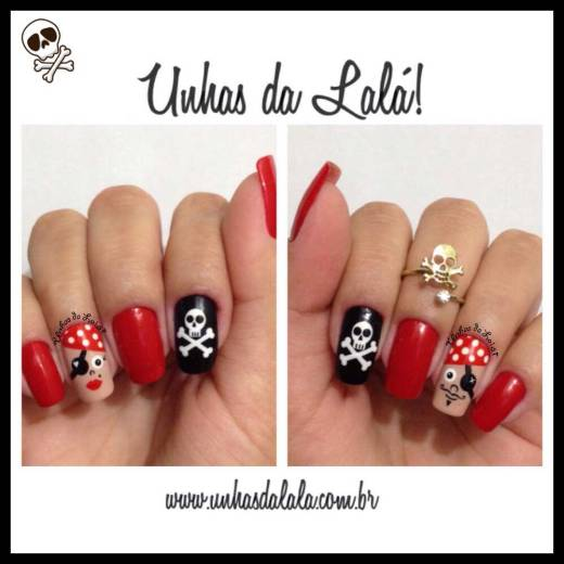 Unhas Decoradas Piratas