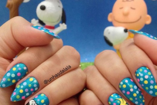Unhas Decoradas Snoopy e Woodstock