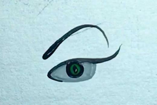 Como Desenhar Olho de Vilã