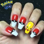 Unhas Decoradas Pokémon GO (Pikachu e Pokebola)