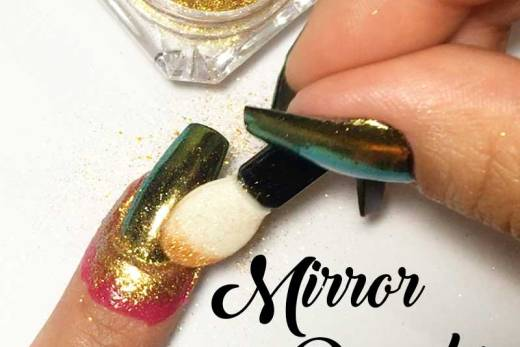 TUTORIAL: Unhas Espelhadas / Unhas Cromadas com Mirror Powder da Born Pretty Store