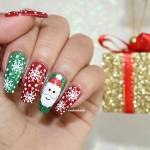 Unhas Decoradas Natal – Papai Noel