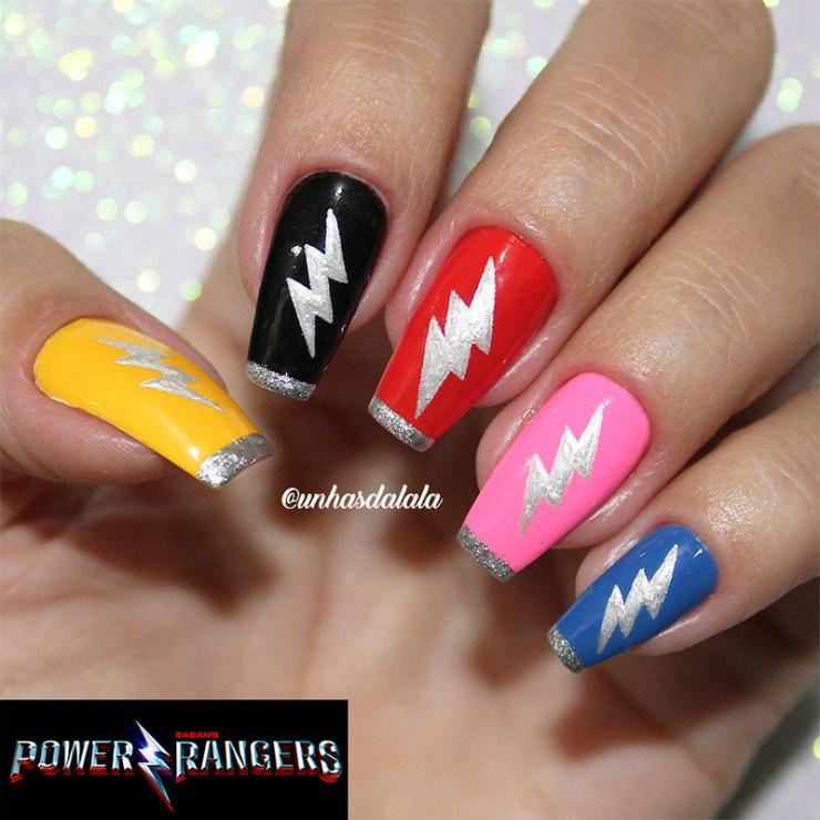 Unhas Decoradas Power Rangers ( Saban's Power Rangers )