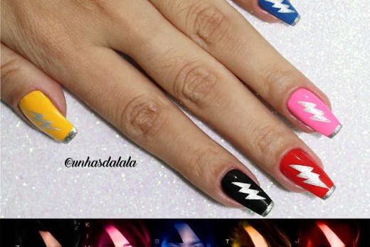 Unhas Decoradas Power Rangers ( Saban's Power Rangers )