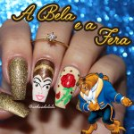 Unhas Decoradas A Bela e A Fera – Beauty and The Beast