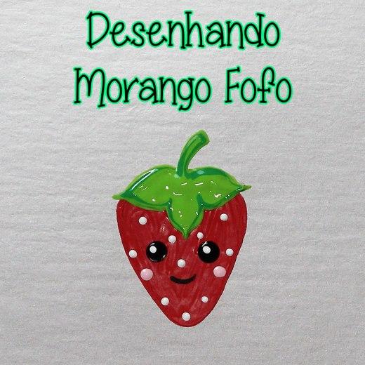 Como Desenhar Morango Fofo